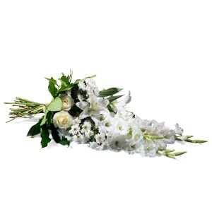 Horizontal Bouquet in white shades