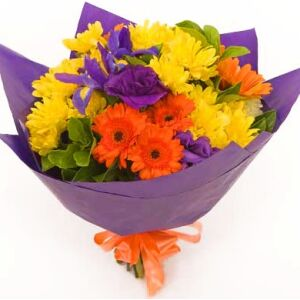 Funeral/Sympathy Bright Bouquet with ribbon